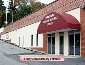 Lobby and Sanctuary Entrance